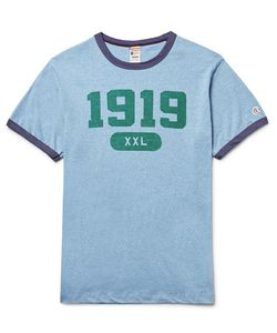 Todd Snyder + Champion | Slim-Fit Printed Cotton-Jersey T-Shirt Light