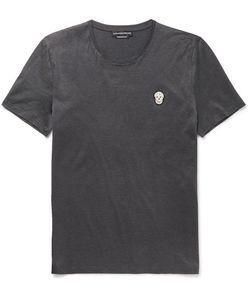 Alexander McQueen | Slim-Fit Skull-Appliquéd Mercerised Cotton-Jersey T-Shirt