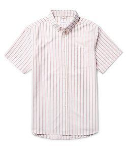 SATURDAYS NYC | Esquina Slim-Fit Button-Down Collar Striped Cotton Oxford Shirt