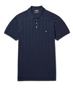 TODD SNYDER | Striped Knitted Silk And Cotton-Blend Polo Shirt