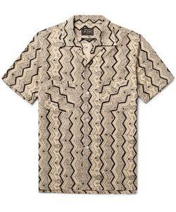 Beams Plus | Camp-Collar Printed Cotton Shirt