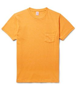 Velva Sheen   Slim-Fit Mélange Cotton-Blend Jersey T-Shirt