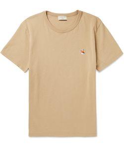 Maison Kitsune | Slim-Fit Fox-Embroidered Cotton-Jersey T-Shirt