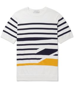 Tomorrowland | Slim-Fit Striped Knitted Cotton T-Shirt