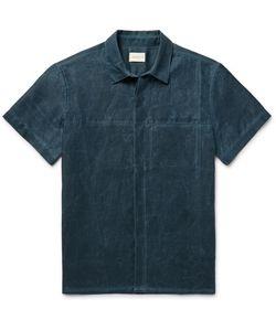 SIMON MILLER | Slim-Fit Distressed Cotton Shirt