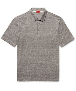 Isaia | Space-Dyed Linen And Cotton-Blend Polo Shirt
