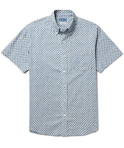 Blue Blue Japan | Button-Down Collar Printed Cotton Shirt