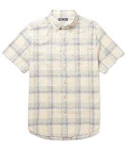 ALEX MILL | Slim-Fit Button-Down Collar Checked Linen And Cotton-Blend Shirt