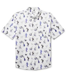 THORSUN   Printed Cotton-Voile Shirt