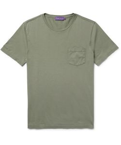 Ralph Lauren Purple | Label Slim-Fit Cotton-Jersey T-Shirt