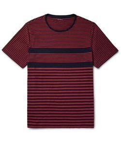 Club Monaco | Striped Cotton-Jersey T-Shirt