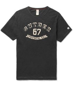 Todd Snyder + Champion | Slim-Fit Printed Slub Cotton-Jersey T-Shirt