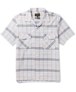 Beams Plus | Camp-Collar Checked Cotton-Dobby Shirt