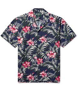 Gitman Vintage | Camp-Collar Print Cotton-Blend Shirt