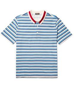 BERLUTI   Striped Cotton-Jersey Polo Shirt