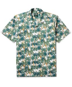 Gitman Vintage   Camp-Collar Printed Cotton-Poplin Shirt