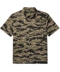 Stüssy   Safari Camouflage-Print Cotton-Seersucker Shirt