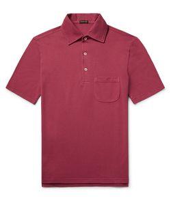 RUBINACCI | Cotton-Piqué Polo Shirt