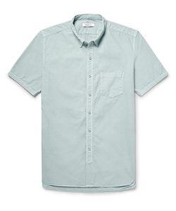NONNATIVE | Dweller Button-Down Collar Overdyed Cotton-Poplin Shirt