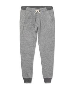 J.Crew   Classic Slim-Fit Tapered Mélange Cotton-Blend Jersey Sweatpants