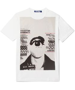 Junya Watanabe   Printed Cotton-Jersey T-Shirt