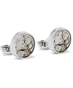Tateossian | Skeleton Rhodium-Plated Cufflinks