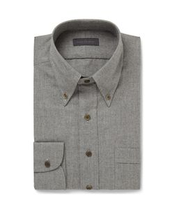 Thom Sweeney | Slim-Fit Brushed-Cotton Shirt