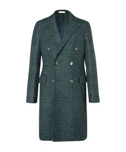 Boglioli | Double-Breasted Prince Of Wales Checked Wool-Blend Bouclé Coat