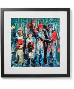Sonic Editions | Framed Stone Roses Paint Manchester Print 17 X