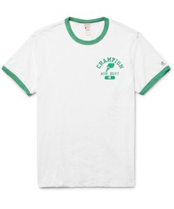 Todd Snyder + Champion | Printed Slub Cotton-Jersey T-Shirt