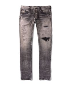 Fabric-Brand & Co | Meyer Slim-Fit Distressed Denim Jeans