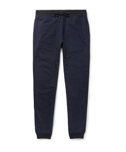 BERLUTI | Tapered Leather-Trimmed Cotton And Cashmere-Blend Sweatpants