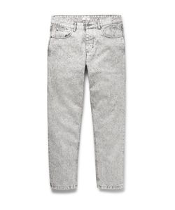 Ami | Slim-Fit Tapered Cropped Bleached Denim Jeans