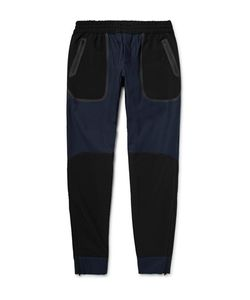 Under Armour Sportswear | Pivot Slim-Fit Tapered Shell-Panelled Stretch-Cotton Sweatpants
