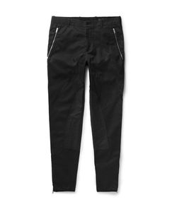 Alexander McQueen | Slim-Fit Tapered Panelled Cotton-Twill Trousers