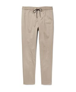 Tomorrowland | Slim-Fit Tapered Cotton-Blend Twill Drawstring Trousers