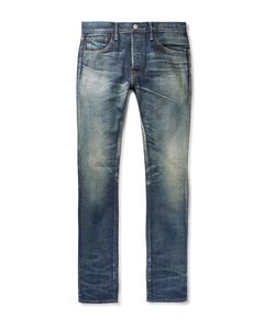Fabric-Brand & Co | Shaz Slim-Fit Distressed Selvedge Denim Jeans