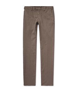 Isaia | Slim-Fit Stretch-Cotton Twill Chinos