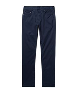 Michael Kors | Slim-Fit Brushed Stretch-Cotton Twill Trousers