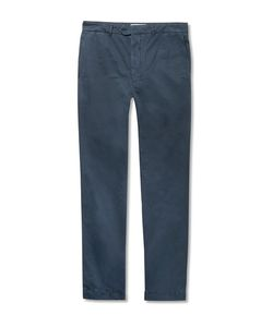 Officine Generale | New Fisherman Slim-Fit Garment-Dyed Cotton And Linen-Blend Chinos