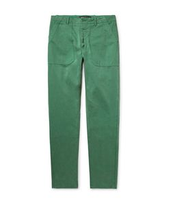 The Workers Club | Garment-Dyed Cotton-Twill Chinos