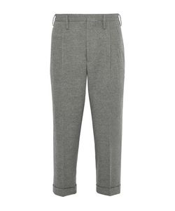 Visvim | Wide-Leg Cropped Wool And Linen-Blend Trousers