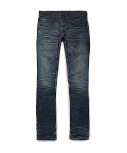 Fabric-Brand & Co | Doran Slim-Fit Selvedge Denim Jeans Dark