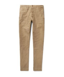 Fabric-Brand & Co | Slim-Fit Distressed Cotton Chinos