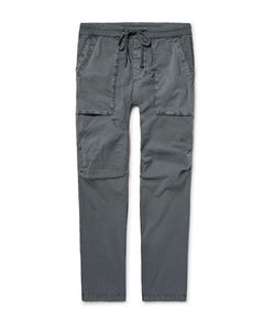 James Perse | Slim-Fit Stretch-Cotton Poplin Cargo Trousers