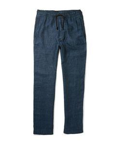 Eidos | Herringbone Linen Drawstring Trousers