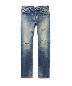 NONNATIVE | Dweller Slim-Fit Distressed Selvedge Denim Jeans