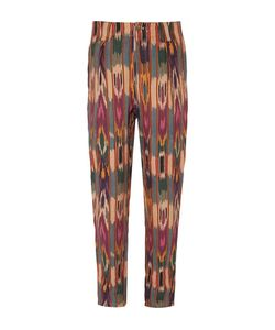 Etro | Tapered Pleated Printed Linen Trousers