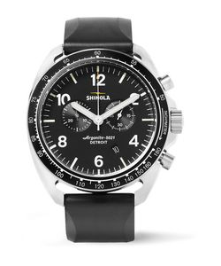 SHINOLA | The Rambler Tachymeter Chronograph 44mm Stainless Steel And Rubber