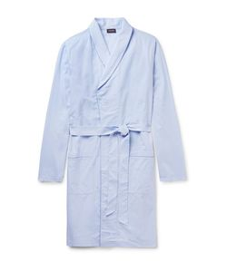 Hanro | Contrast-Tipped Cotton-Jacquard Robe